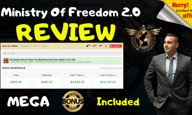 Ministry Of Freedom Review – Exclusive Bonuses